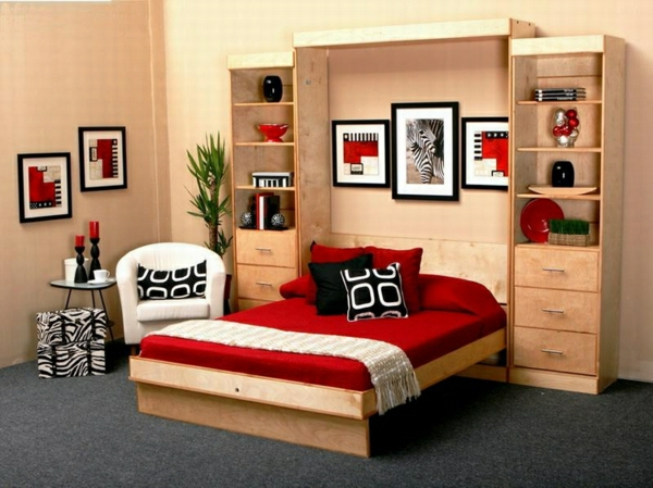 schlafzimmer rot beige. Black Bedroom Furniture Sets. Home Design Ideas