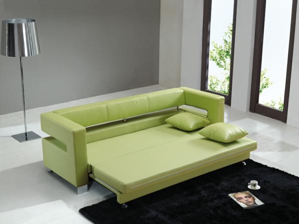 günstige-sofas-ikea-grüne-farbe - moderne lampe