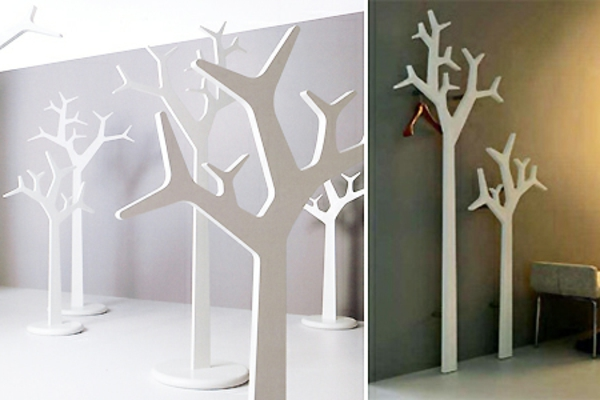 garderobe-selber-bauen-weiße-bäume - unterschiedliche beleuchtung der beiden fotos