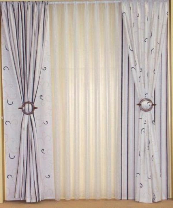 gardinen-weiße-farbe-dekoration - elegant aussehen