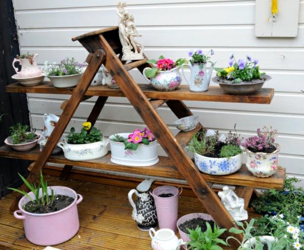 30 kreative ideen für selbstgemachte gartendeko - archzine, Garten und Bauen
