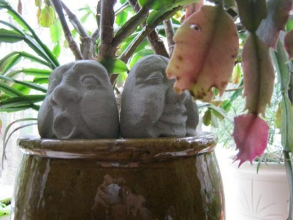 Betonfiguren selber machen kriegen sie etwas inspiration - Gartendekoration selber machen ...