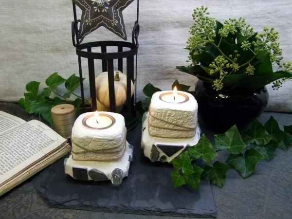 Betonfiguren selber machen kriegen sie etwas inspiration - Kerzenhalter selber machen ...