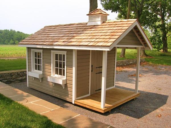 gartengerätehaus-niedlich-aussehen - dach gestalten