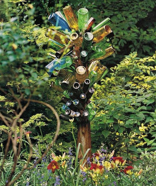 Chestha.com | Dekorieren Zaun Idee Gartendeko Holz Weinfass Kreative Ideen