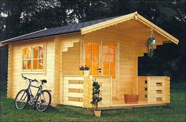 gartenhäuser-modern-fahrrad - aus holz genacht