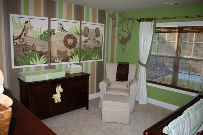 grüne-lustige-tapeten-für-babyzimmer-für-jungen