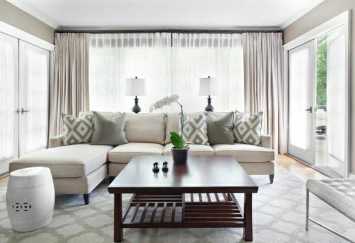 graue-wandfarbe-fürs-wohnzimmer-sehr-interessante-wandfarben-ideen