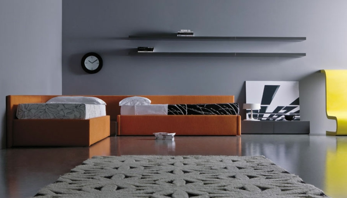 graue-wandfarbe-originelles-wohnzimmer-tolle-wand-streichen-ideen
