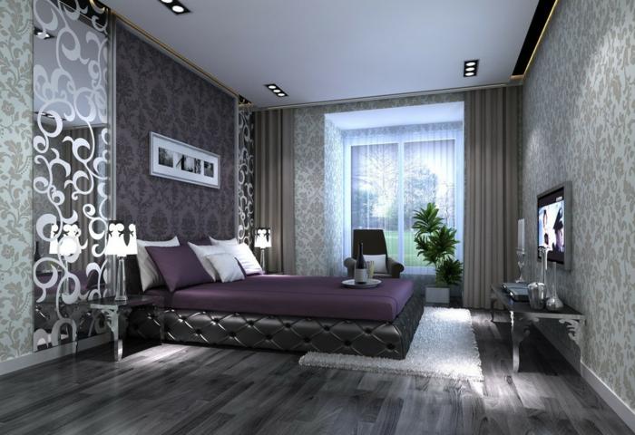 graue-wandfarbe-schlafzimmer-einmaliges-ambiente