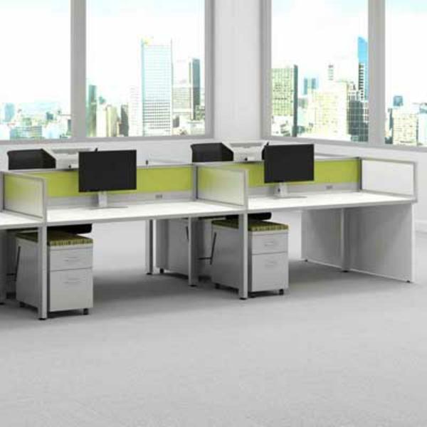 großes-arbeitszimmer-ikea-büromöbel- schubladen unter den computertischen