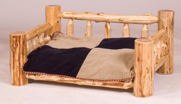 hundebett-orthopädisch-aus-holz-gebaut - kein hund darauf