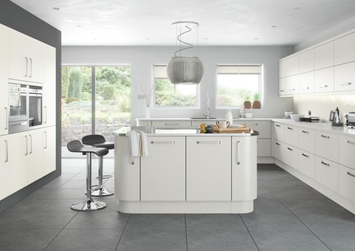 ideen-zum-streichen-hellgraue-farbe-in-der-küche