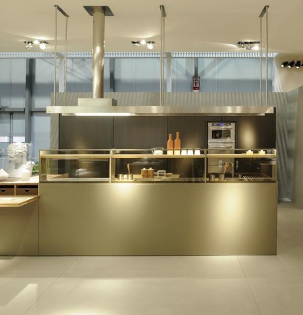 ikea-arbeitsplatten-edelstahl-küche - ultramodern gestaltet