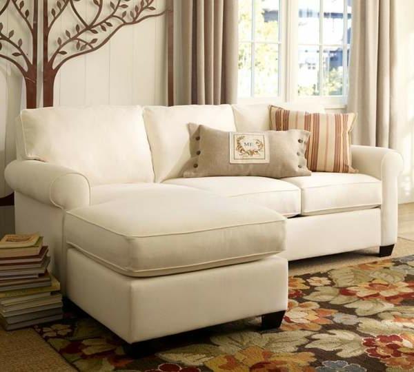 ikea-beddinge- weiße-farbe - taupe gardinen