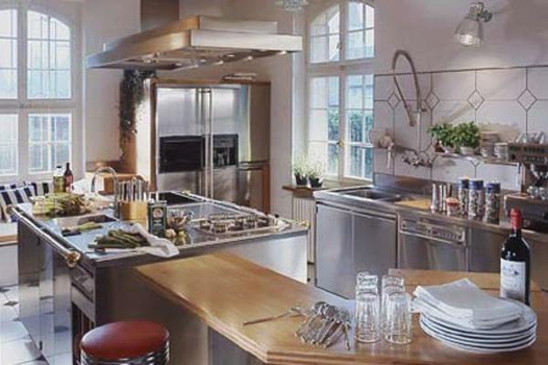 ikea-küche-edelstahl-modern- schöne küchenelemente