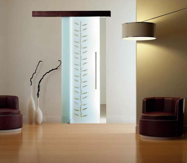 innentür-aus-glas-mit-dekoration- schön aussehen