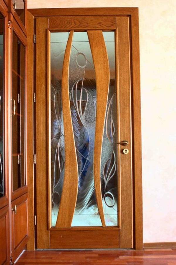 innentüren-holz-glas-sehr-modern- schöner wohnen