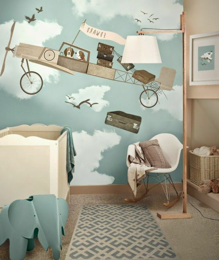 120 super originelle ideen f rs jungenzimmer for Tapete babyzimmer