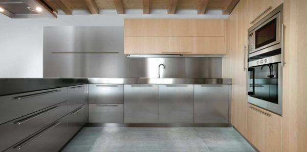 küchenarbeitsplatte-edelstahl - einfach gestaltet