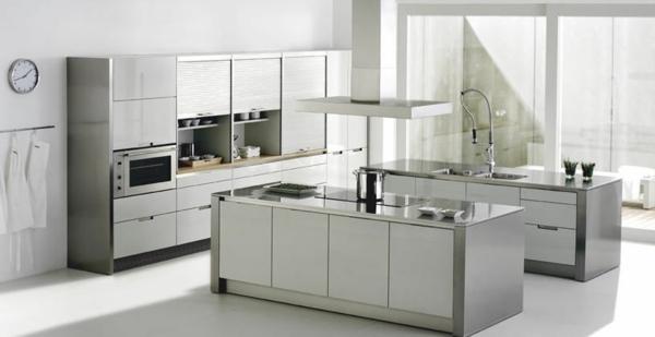 Atemberaubend Edelstahl Küche Spur Beleuchtung Bilder - Küchen Ideen ...