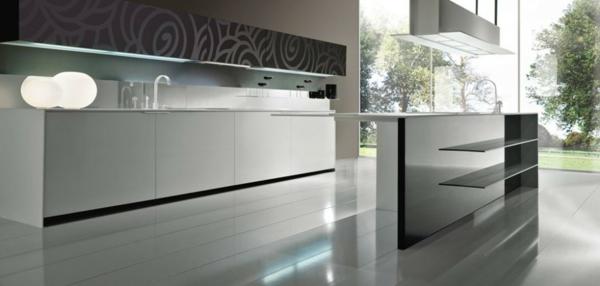 küchenrückwand-ikea- edelstahl-küche - graue farbe