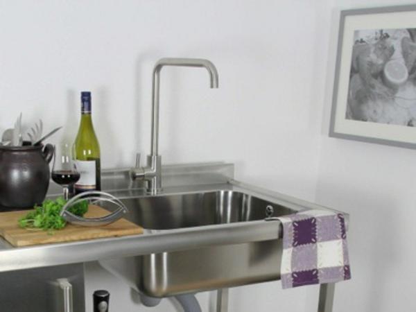 küchenspüle-edelstahl - moderne küche