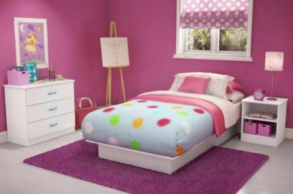 Wand streichen ideen lila: schlafzimmer nur eine wand streichen ...