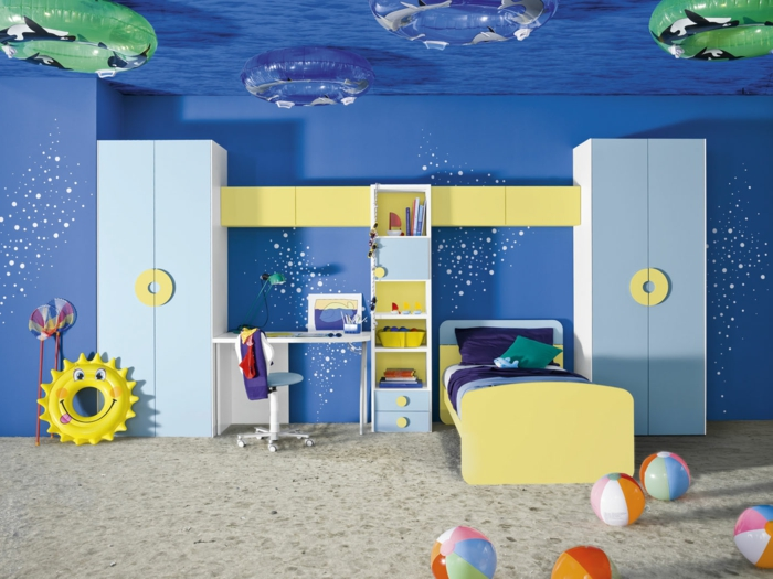blau idee kinderzimmer. Black Bedroom Furniture Sets. Home Design Ideas