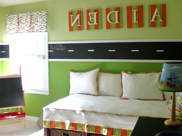 Grune Wandfarbe Fur Kinderzimmer : kinderzimmergestaltungsideengrünewandfarbe  eine dicke linie in