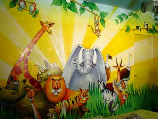 Kinderzimmer streichen – lustige Farben für eine freundliche ...