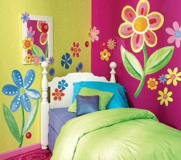 Kinderzimmer streichen lustige farben f r eine freundliche atmosph re - Kinderzimmer wandbemalung ...