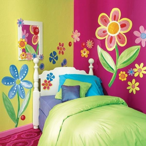 Babyzimmer wandbemalung vorlagen  Kinderzimmer streichen - lustige Farben für eine freundliche ...