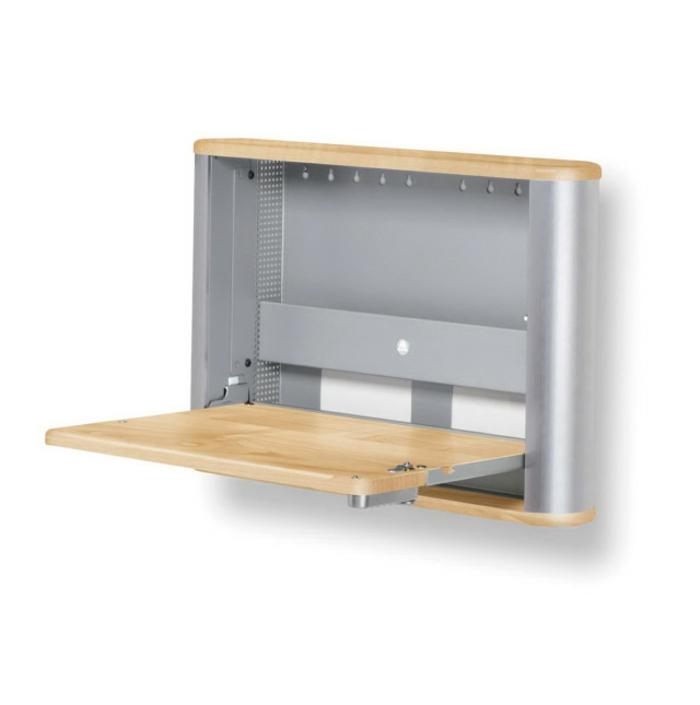 Schreibtisch selber bauen 106 originelle vorschl ge for Schreibtisch klappbar wand
