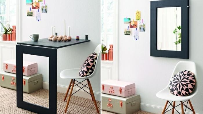 Schreibtisch selber bauen 106 originelle vorschl ge for Schreibtischplatte schwarz