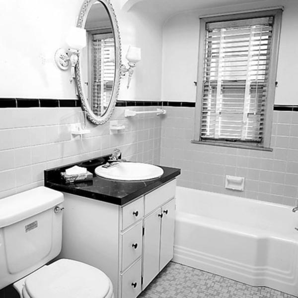 kleines-bad-ideen-weiße-farbe - elegant ausgestattet