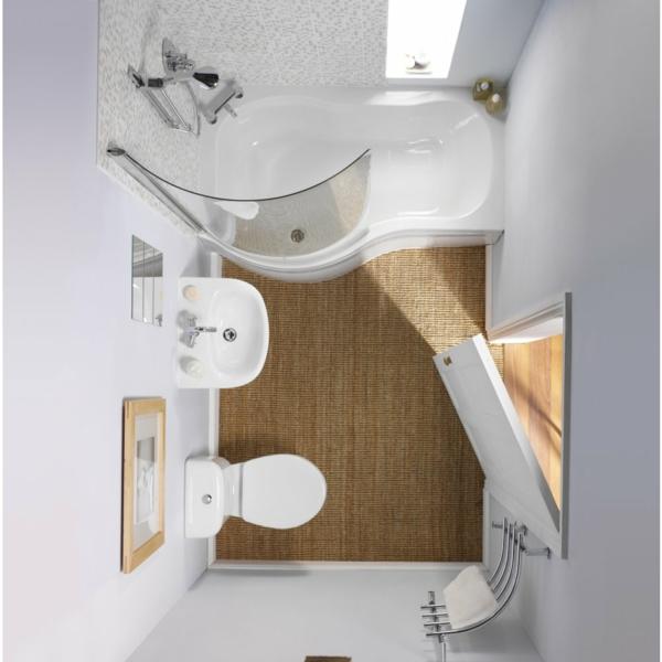 kleines-bad-planen-weiße-wände - foto von oben gemacht