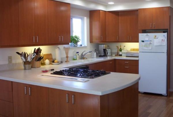 kochnisel-küchenschränke-spüle-mit-unterschrank - weiß mit braun kombinieren