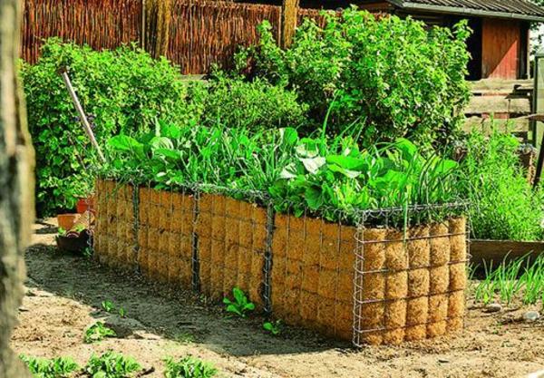kräute- hochbeet - grell grün