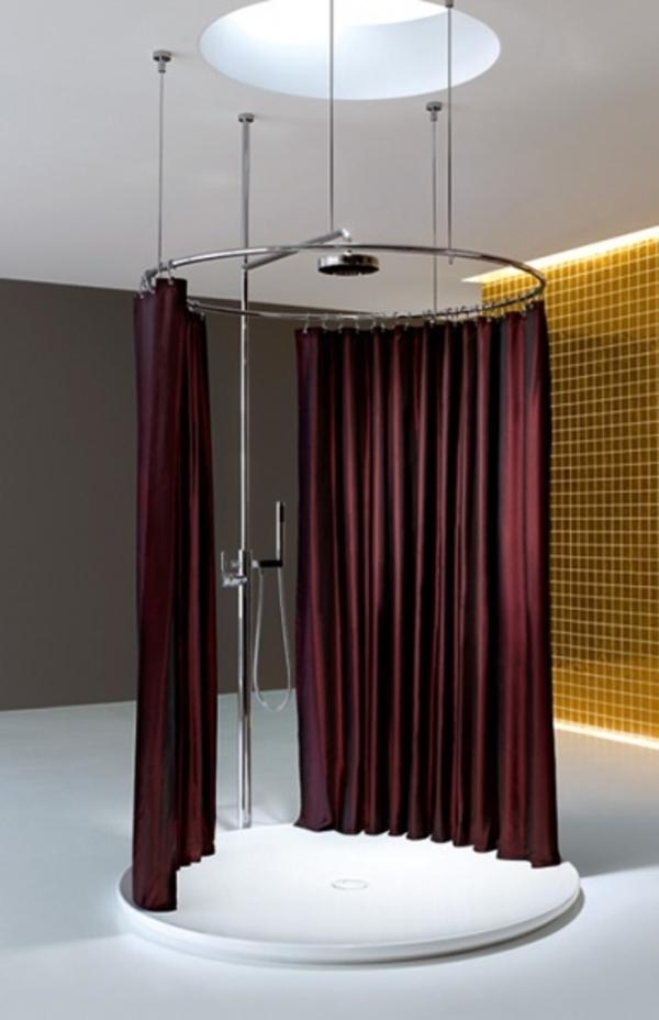 marimekko-duschvorhang-elegante-gestaltung - duschkabine rund