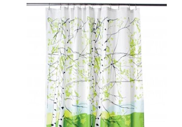 marimekko-duschvorhang - hintergrund in weiß