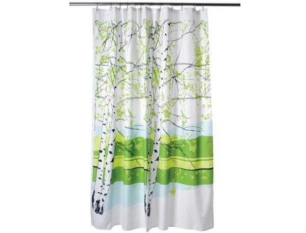 marimekko-onlin-shop-gardinen-grün-und-weiß-für-badezimmer - hintergrund in weiß