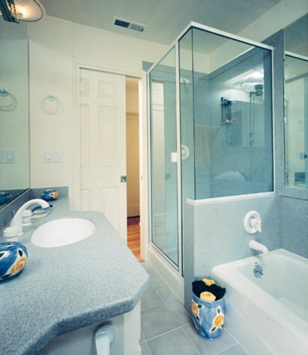 Minibad Helle Egstaltung   Elegante Duschkabine Aus Glas