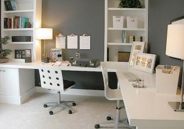 Büromöbel weiss ikea  Ikea Büromöbel - 29 ultramoderne Vorschläge! - Archzine.net