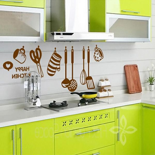 moderne-küche-gestalten-wandtatoos - küche modern ausstatten