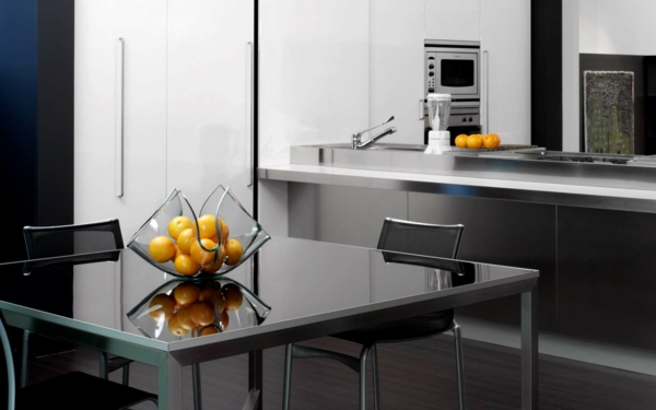 moderne-küchenmöbel-in-schwarzer-farbe - ultramoderne gestaltung