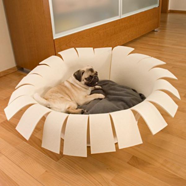 orthopädische-hundebetten-interessantes-design - daneben ein schrank aus holz