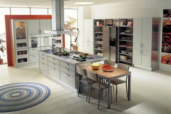otto-küchenmöbel-modern - teppich am boden
