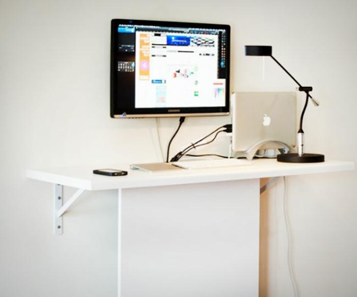Platzsparende Schreibtische Selber Bauen Arbeitsplatte Weiß