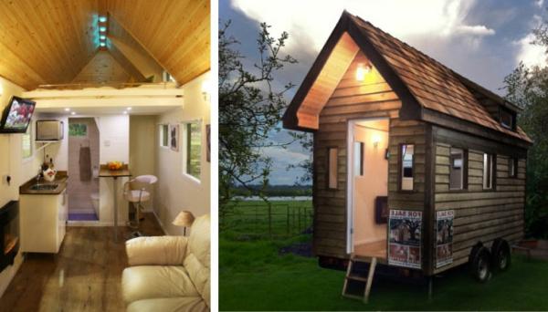 preiswerte-minihäuser-außen-und-innen - zwei fotos